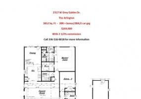 2317 W Grey Gables Dr. Dr., Graham, North Carolina 27215, 3 Bedrooms Bedrooms, 7 Rooms Rooms,2 BathroomsBathrooms,Grey Gables,For Sale,Arlington,W Grey Gables Dr.,1040